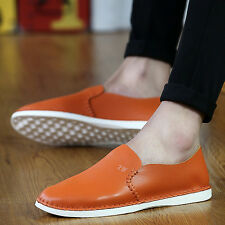 Mens Leather Loafer Flats Driving Moccasin shoes Casual Comfy Breathable Slip on