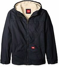 Dickies Men's Big and Tall Sanded Duck Sherpa Lined Hooded Jacket