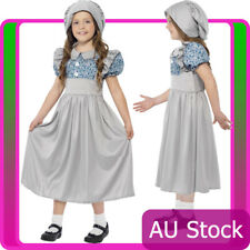 Girls Victorian School Girl Costume Child Historical Book Week Fancy Dress Kids