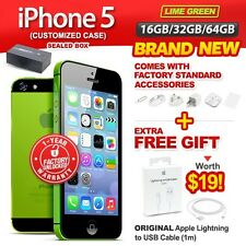 New & Sealed Factory Unlocked APPLE iPhone 5 16 32 64GB Lime Green 1 Yr Warranty