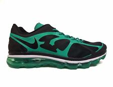 Nike Men's Air Max+ 2012 Running Shoes Black/Green 487982-004 a4