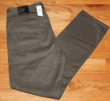 NWT NEW Mens Banana Republic 5 Pocket Pants Sueded Slim Fit Stretch Olive *F6
