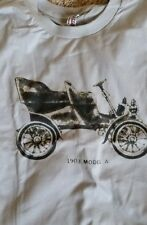 New Men's Silver White 1903 Ford Model A Graphic Tee T Shirt Large L XL 2X