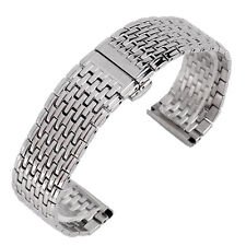 20/22mm Silver Stainless Steel Watch Band Men Watch Band Wrist Strap Bracelet HQ