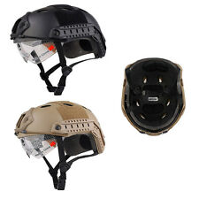Airsoft SWAT Helmet Tactical  Combat Fast Helmet With Protective Goggles Strap