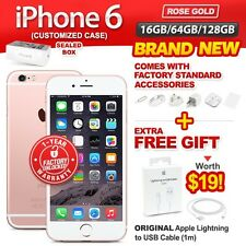New & Sealed Factory Unlocked APPLE iPhone 6 16 64 128GB Rose Gold 1 Yr Warranty