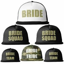 Bride Tribe Gold Print MESH TRUCKER Snapback Caps Hats Squad Team Hen Party Do