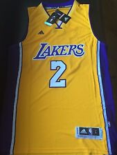 New Lonzo Ball #2 Los Angeles Lakers Sewn Jersey