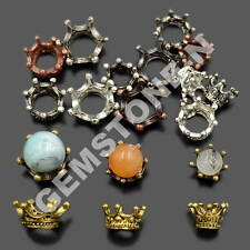 Solid Metal Crown Big Hole Bracelet Connector Charm Beads 6mm 8mm 10mm
