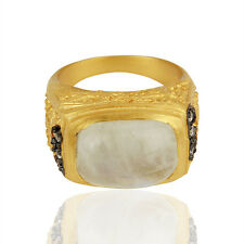 14K Gold Plated Women Designer Gemstone CZ Ring Fashion Gift Jewelry