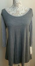 Liz Lange Maternity Gray Knit Top Sizes M XL Target 3/4 Sleeves Lightweight New