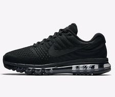 Nike AIR MAX 2017 MEN'S RUNNING SHOES Rubber Outsole BLACK - US 6.5, 7, 7.5 Or 8