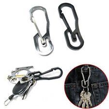 Popular Stainless Steel Buckle Carabiner Keychain Key Ring Clip Hook Outdoor