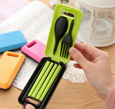 Camping Portable Spoon Fork Chopsticks for Travel Tableware Set Plastic Cutlery