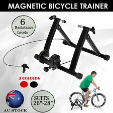Foldable Indoor Magnetic Bike Bicycle Turbo Trainer Stand Exercise Training AU
