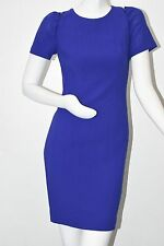 $1690 NEW Carolina Herrera Stretch Wool Crepe Dress Ultramarine Royal Blue  2