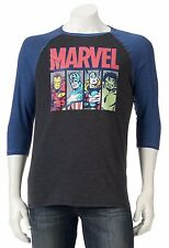Marvel Avengers Hulk Thor Baseball Sleeve T-Shirt - Men's S M L XL - New w/Tags!