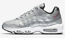 Nike AIR MAX-95 PREMIUM QS MEN'S SHOES, SILVER/BLACK/WHITE- Size US 12, 13 Or 14