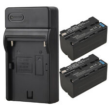2 x 5200mah Camera Replacement Li-Ion Battery + Charger For Sony NP-F750 NP-F770