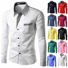 Casual Shirt Camisa Masculina Long Sleeve Mens Fashion Clothing Slim Fit Shirt
