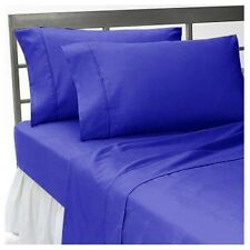 1000TC/1200TC 100%EGYPTIAN COTTON US SIZES ALL BEDDING ITEMS EGYPTIAN BLUE SOLID