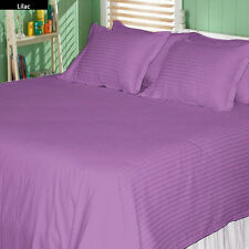 1000TC/1200TC 100%EGYPTIAN COTTON US SIZES ALL BEDDING ITEMS LAVENDER STRIPED