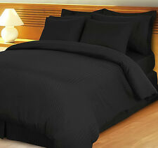 1000TC/1200TC 100%EGYPTIAN COTTON US SIZES ALL BEDDING ITEMS BLACK STRIPED