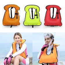 Children Adult Manual Inflatable Life Swim Jacket Vest Safety Flotation Device