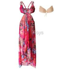2 Pieces Spaghetti Strap Beach Party Maxi Dress & Ivisible Bra,Sizes S-XXXL