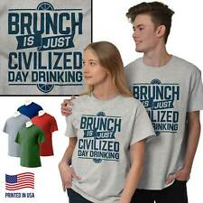 Brunch Fancy Drinking Beer T Shirt Tee Funny Drunk Breakfast T-Shirt Top