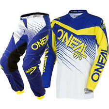 NEW Oneal 2018 Youth MX Element Blue Yellow Jersey Pants Kids Motocross Gear Set