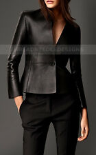 Womens Genuine Lambskin Motorcycle Real Leather Slim fit Coat/Jacket for Biker