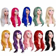 Women Lady 70cm Full Curly Wigs Cosplay Costume Anime Party Hair Wavy Long Wig