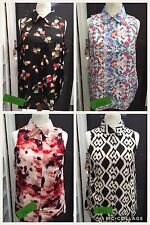 YOURS PLUS SIZE 100% POLYESTER COLLARED SUMMERY VEST/TOP 16/18 TO 28/30
