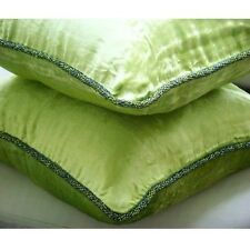 Solid Color 45x45 cm Velvet Lime Green Cushion Covers - Green Lime