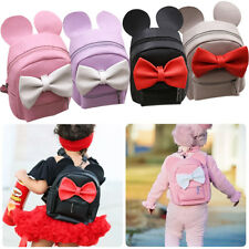Minnie Mouse Women Girl Backpack School Mini Bag PU Leather Shoulder Travel Bags