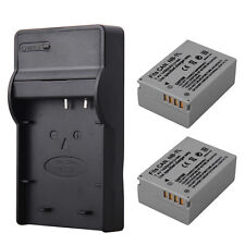 2x1400mah NB-7L Camera Battery + Charger For Canon PowerShot G10 G11 G12 SX30IS