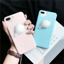 Lovely 3D Soft Seal Sea Lion phone Cases cartoon Soft TPU for iphone 6 6s 7 plus