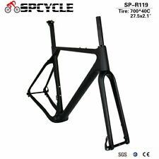 New Aero Carbon Road Bike Gravel Frame BB386 Carbon Bicycle Gravel Frameset Matt