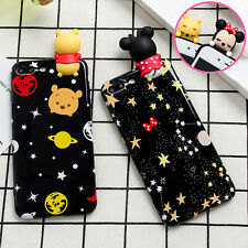 Lovely 3D Starry sky Minnie Pooh bear Soft tpu phone Case For iphone 6 6s 7 Plus