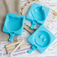 Ice Cream Silicone Mould Pop Lolly Maker Diy Popsicle Mold Frozen Tray Pan Maker