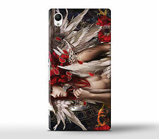 Man Muscles Fantasy Feather Wings Head Hard Case Cover Fits Sony Xperia Z Models