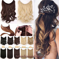 Straight Curly Piece Secret Wire One Piece Hair Extension Real Natural Hairpiece