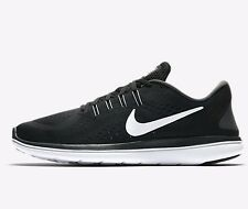 Nike FLYWIRE FLEX 2017 RN MEN'S RUNNING SHOES,BLACK/WHITE-Size US 6.5,7,7.5 Or 8