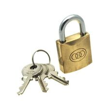 NEW BRASS PADLOCK 20,25 MM BY TRI-CYCLE