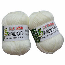 500g/lot Bamboo Cotton Yarn Soft Smooth Hand Knitting Yarn Baby Cotton Wool Yarn