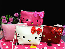 New Hellokitty Cosmetic Handbag make up Bag Pencil Clutch Storage Case ly-228