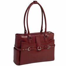 McKlein USA Willow Springs Leather Ladies Briefcase - Red