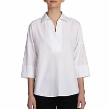 AKRIS PUNTO WOMENS ELEMENTS COTTON KIMONO BLOUSE