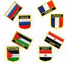 2 Country Flag Iron On Patch Flag Sheild Patch Seal Flag Patch Country Patch